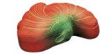 木製香合 菊華(赤)